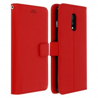 Oneplus 7 Flip-Cover mit Kartenfächern & Standfunktion - Rot