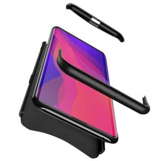 Handyhülle Oppo Find X, Hardcase mit erhöhten Kanten - Schwarz