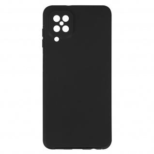 Schutzhülle für Samsung Galaxy A12, Vorder- + Rückseite ? Schwarz
