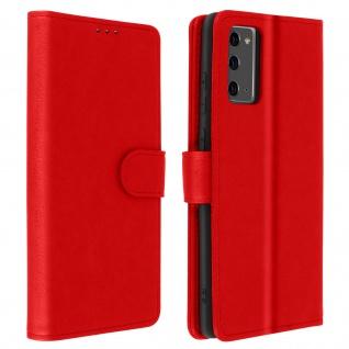 Flip Cover Geldbörse, Klappetui Kunstleder für Galaxy Note 20 ? Rot