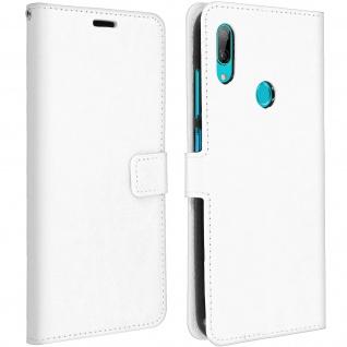 Flip Stand Cover Brieftasche & Standfunktion für Huawei Y7 2019 - Weiß