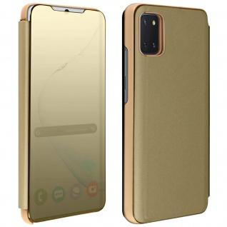 Mirror Klapphülle, Spiegelhülle für Samsung Galaxy Note 10 Lite - Gold - Vorschau 1