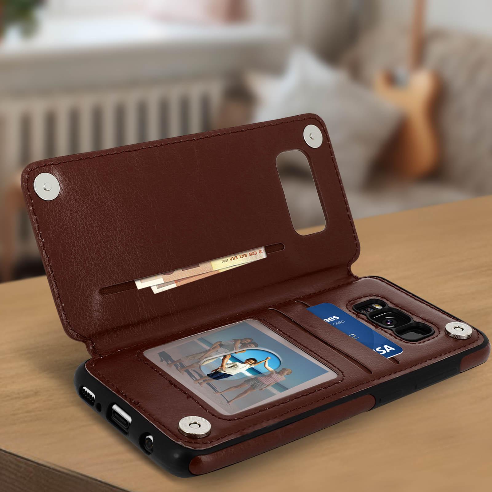 Wallet Case By Forcell Handyhülle Mit Visitenkartenetui Für Galaxy S8 Plus