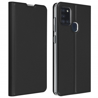 Klappetui mit Kartenfach & Standfunktion Samsung Galaxy A21s - Schwarz