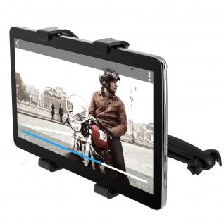 Universal KFZ-Halterung Tablets 7'' bis 11'' - Kopfstütze-Befestigung - Schwarz - Vorschau 1