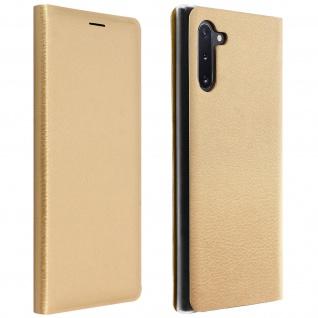 Flip Book Cover, Klappetui aus Kunstleder für Samsung Galaxy Note 10 - Gold - Vorschau 1