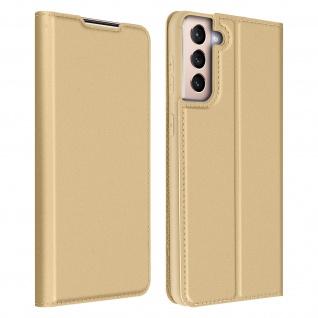 Klappetui mit Kartenfach & Standfunktion Samsung Galaxy S21 ? Gold