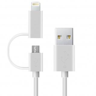 2in1 iPhone/iPad & Mikro-USB Adapter Ladekabel - Aufladen und Synchronisierung