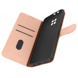 Flip Cover Geldbörse, Etui Kunstleder für Xiaomi Redmi Note 9T 5G ? Rosegold