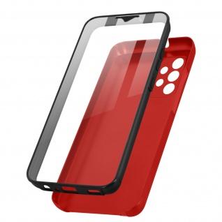 Schutzhülle für Samsung Galaxy A32, Vorder- + Rückseite ? Rot