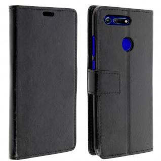 Flip Stand Cover Brieftasche & Standfunktion für Honor View 20 - Schwarz