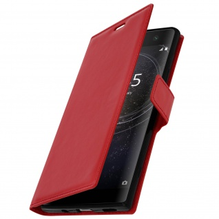 Flip Stand Cover Brieftasche & Standfunktion Sony Xperia XA2 Plus - Rot - Vorschau 2