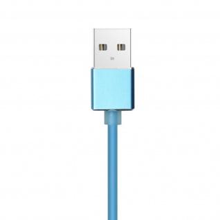 Magnetisches USB/ USB-C Ladekabel Nylon 1m + magnetische USB-C Adapter - Silber - Vorschau 5