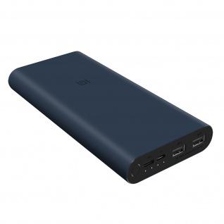 Powerbank 3 by Xiaomi, 10.000mAh mit Micro-USB / USB-C / USB-Ports - Schwarz