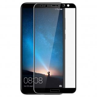 Bruchsichere Glas Displayschutzfolie voller Schutz Huawei Mate 10 Lite - Schwarz