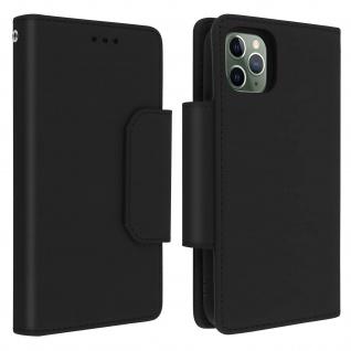 Soft Touch Klappetui mit abnehmbarer Hülle iPhone 11 Pro, Geldbörse ? Schwarz