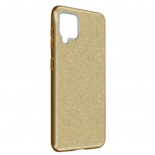 Schutzhülle, Glitter Case für Samsung Galaxy A42 5G, shiny & girly Hülle â€? Gold