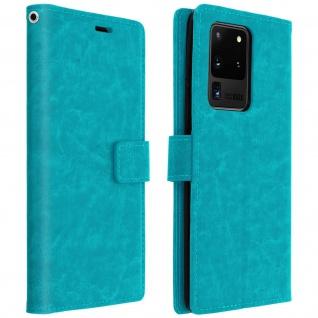 Flip Cover Stand Case Brieftasche & Standfunktion Galaxy S20 Ultra - Blau