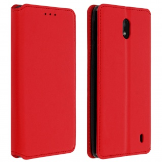 Kunstleder Cover Classic Edition Nokia 1 Plus - Rot