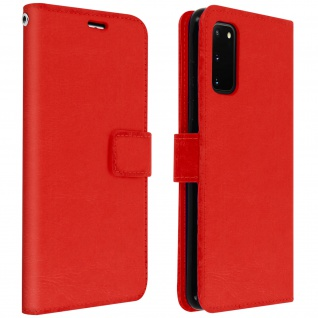 Flip Cover Stand Case Brieftasche & Standfunktion Samsung Galaxy S20 - Rot