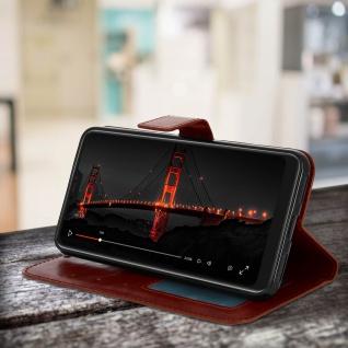 Flip Cover Stand Case Brieftasche & Standfunktion für Xiaomi Mi A2 - Braun - Vorschau 4