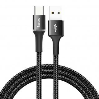 USB/ USB-C Sync. & Aufladen Nylonkabel, 2m, Baseus - Schwarz