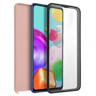 Schutzhülle für Samsung Galaxy A41, Vorder- + Rückseite ? Rosegold