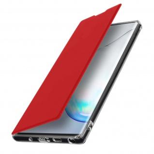Spiegel Hülle, dünne Klapphülle für Samsung Galaxy Note 10 Plus - Rot