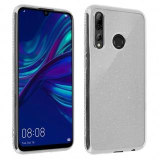 Schutzhülle, Glittery Case für Huawei P Smart 2019/ P Smart Plus 2019 - Silber