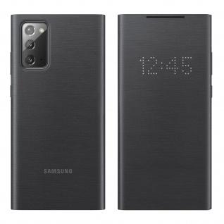 Original Samsung LED-View Cover + Kartenfach Samsung Galaxy Note 20 � Schwarz