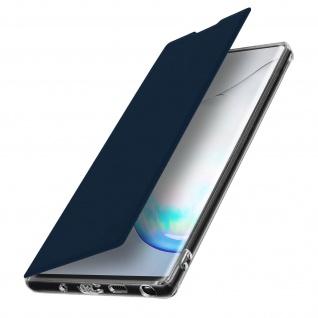 Spiegel Hülle, dünne Klapphülle für Samsung Galaxy Note 10 Plus - Dunkelblau