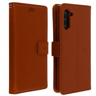 Samsung Galaxy Note 10 Flip-Cover mit Kartenfächern & Standfunktion â€? Braun