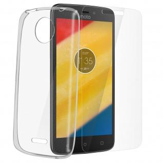 Motorola Moto C Plus Rundumschutz - transparente Hülle + Glas-Displayschutzfolie