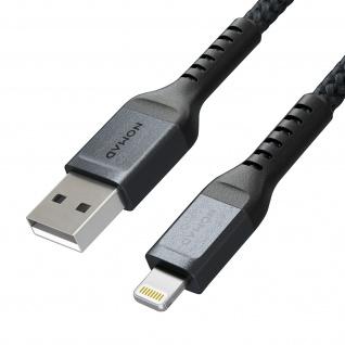 Lightning / USB Kabel aus Aramidfasern + Silikon Kabelbinder by Nomad - Schwarz