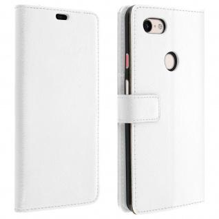 Google Pixel 3 XL Flip-Cover mit Kartenfächern & Standfunktion - Weiß