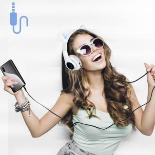 Katzenohren kabellose 5.0 Bluetooth Kopfhörer, Kitty Headset ? Weiß - Vorschau 5