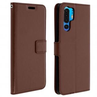 Flip Stand Cover Brieftasche & Standfunktion für Huawei P30 Pro - Braun