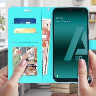 Flip Stand Cover Brieftasche & Standfunktion für Samsung Galaxy A50 - Türkisblau - Vorschau 3
