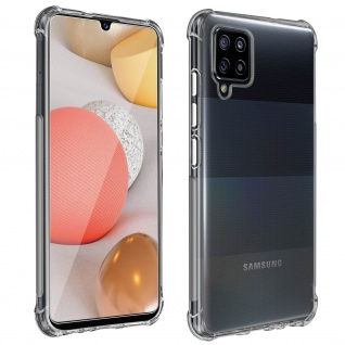 Premium Schutz-Set Samsung Galaxy A42 5G Schutzhülle + Schutzfolie ? Transparent