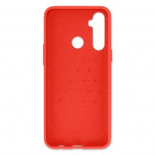 Realme 6i Schutzhülle mit Aluminium und Carbon Design ? Rot