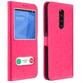 Sony Xperia 1 Flip Cover Doppelfenster & Standfunktion � Rosa