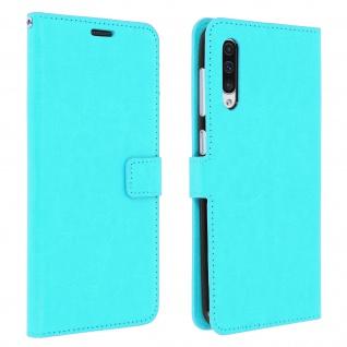 Flip Stand Cover Brieftasche & Standfunktion für Samsung Galaxy A50 - Türkisblau
