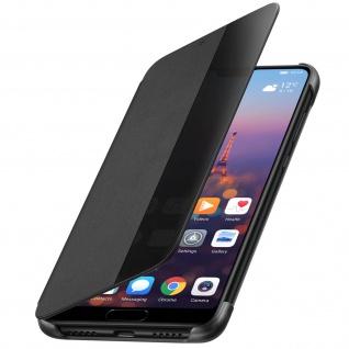 Original Huawei Smart Cover Huawei P20 durchsichtige Frontklappe - Schwarz