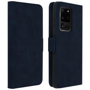 Klapphülle mit Kartenfächer / Standfunktion für Galaxy S20 Ultra - Dunkelblau