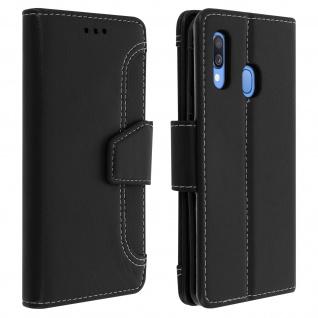Klapphülle mit Geldbörse & Standfunktion für Samsung Galaxy A40 - Schwarz