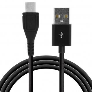 USB auf Micro-USB Ladekabel (Aufladen und Synchronisierung) - 2Meter - Schwarz