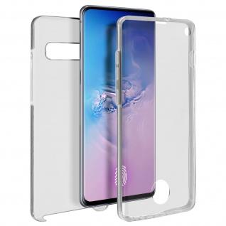 Schutzhülle für Samsung Galaxy S10, Vorder- + Rückseite ? Transparent