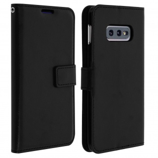 Flip Stand Cover Brieftasche & Standfunktion für Samsung Galaxy S10e - Schwarz