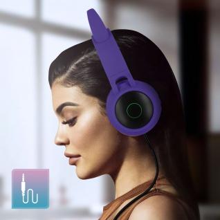 Katzenohren kabellose Bluetooth Kopfhörer, Kitty Headset ? Violett - Vorschau 5