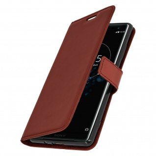 Flip Stand Cover Brieftasche & Standfunktion Sony Xperia XZ3 - Braun 2
